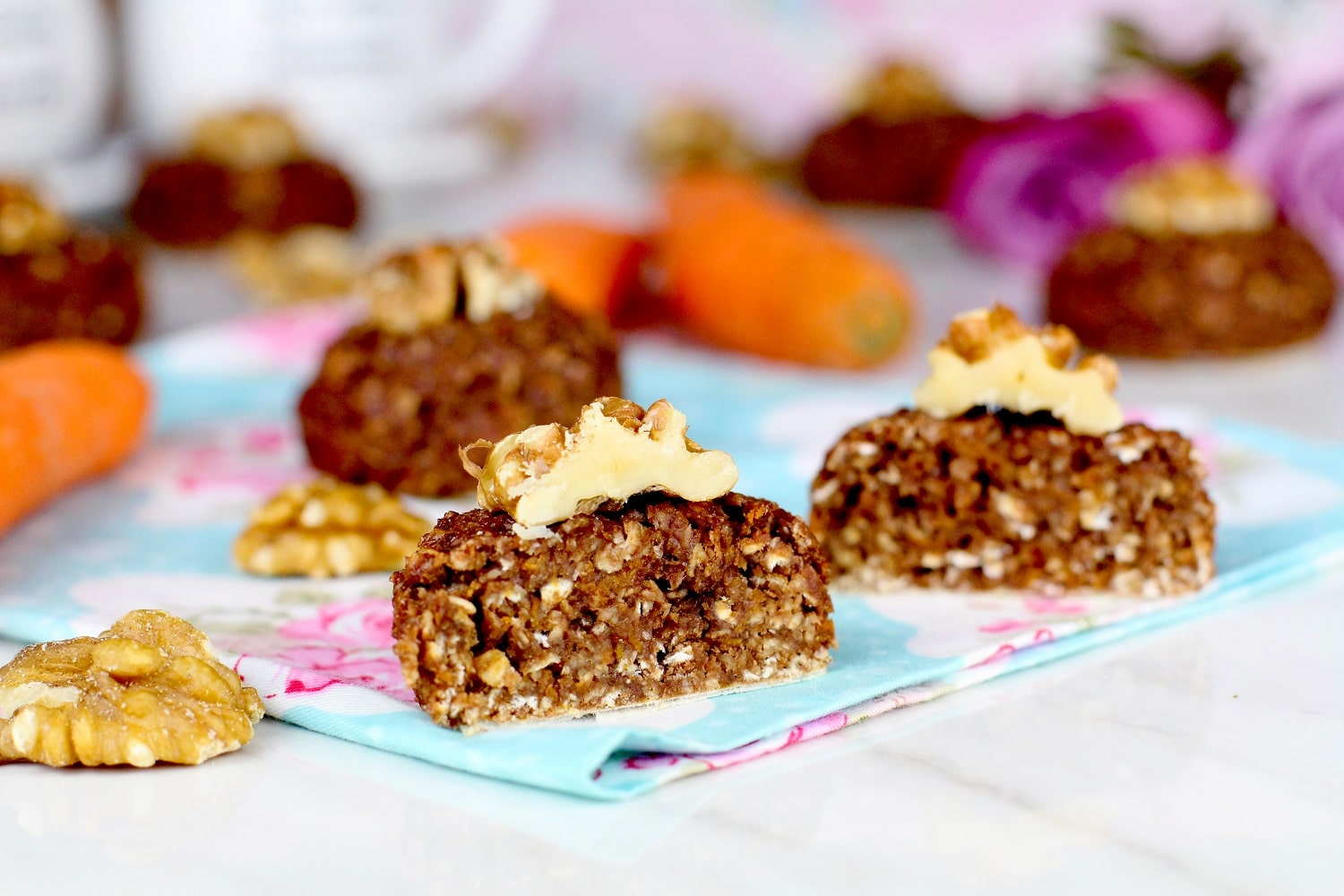 Cómo hacer carrot cake cookies saludables
